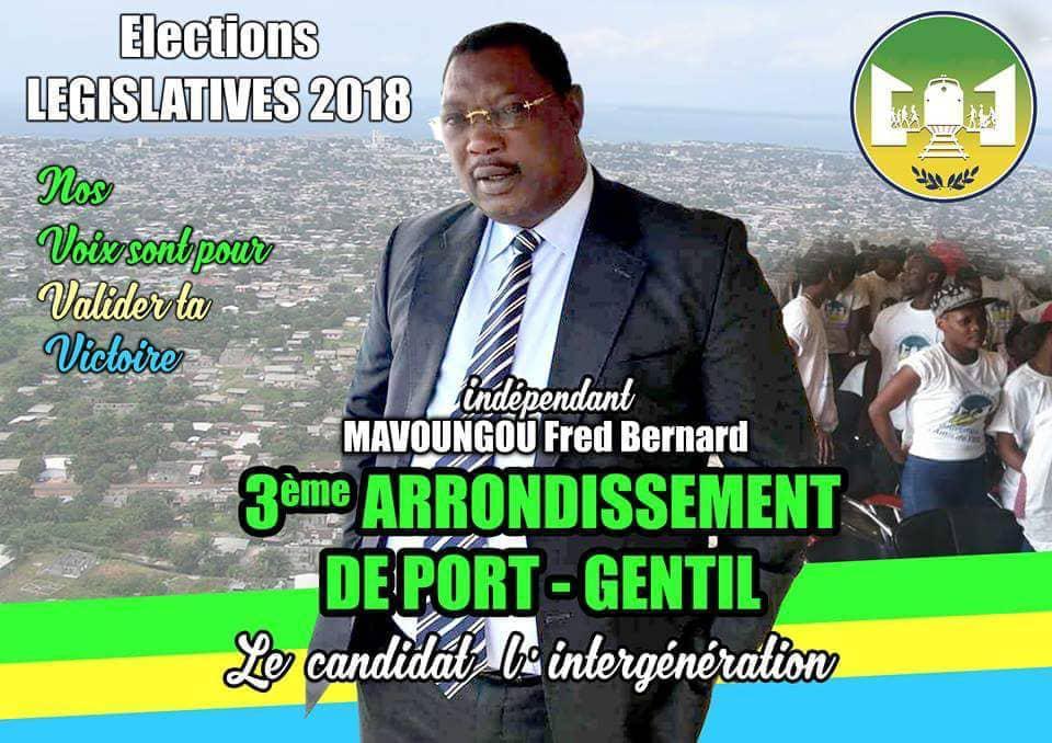 Début de campagne pour l'indépendant Fred Bertrand Mavougou dans le 3eme arrondissement de portgentil!
