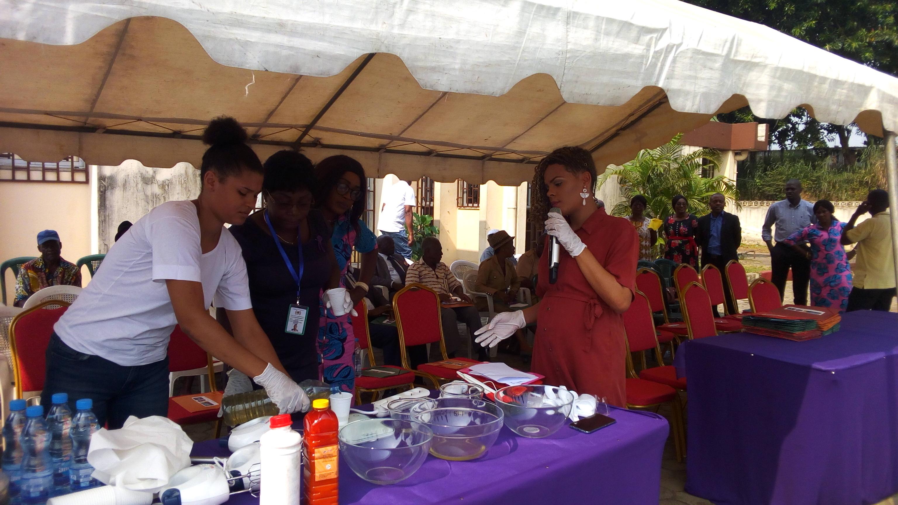 Fondation Sylvia Bongo Ondimba au 5eme arrondissement de Libreville: un atelier de formation de fabrication des savons et des huiles essentielles en marge de la cérémonie!