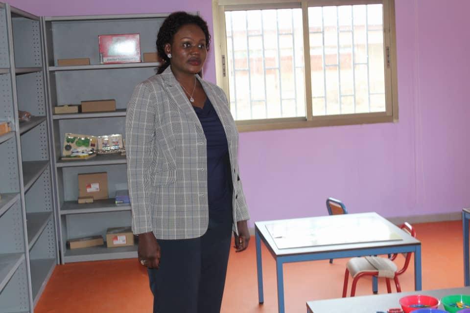 Édith Oyouomi, aux centres destinés à la prise en charge des enfants atteints d'autisme et de trisomie d'Akanda!