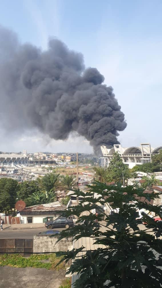 Le Stade Omnisport Omar Bongo, théâtre d'un terrible incendie !