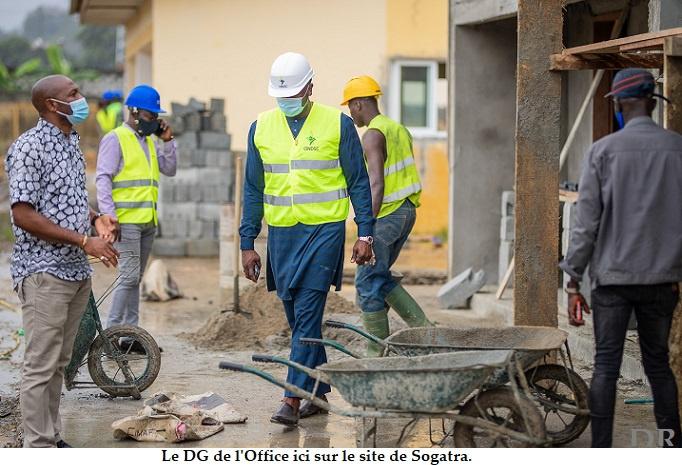Ngomo Obiang sur les chantiers de Sogatra et d'Angondjé !