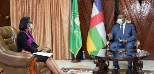 RCA/ Rose Christiane Ossouka Raponda à Bangui pour l' investiture du Président Touadera !