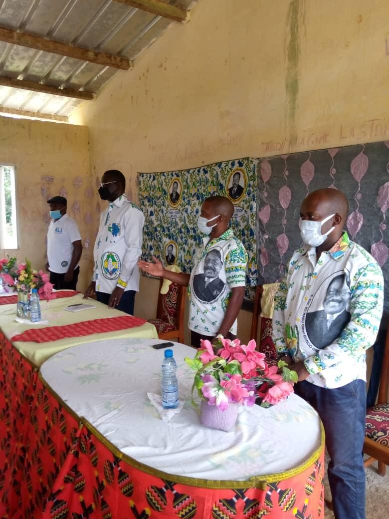 Ogooué-Ivindo: L'honorable Mamadou Boueni Oumar a échangé avec sa base du canton d'Aboye et Mougnandji