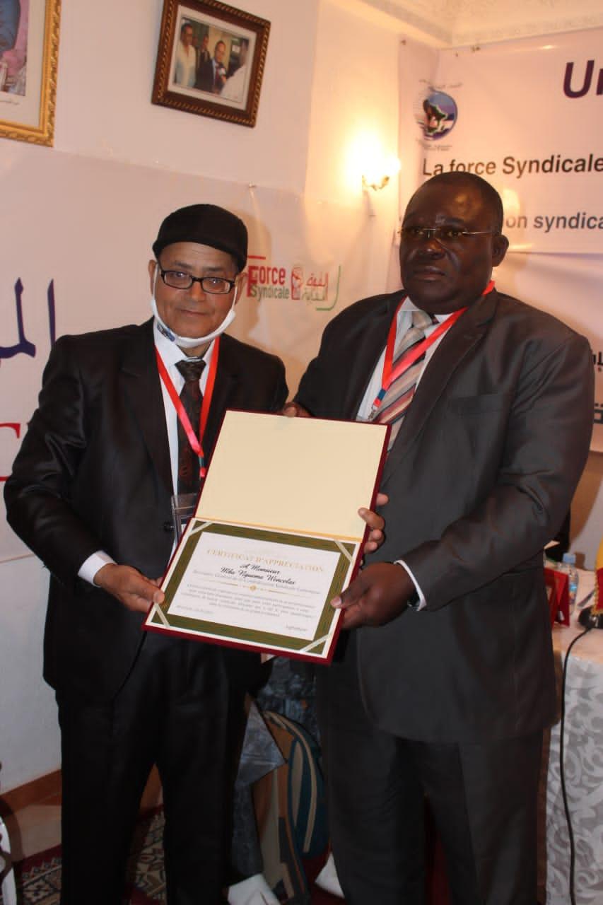 Cosyga : Wenceslas Mba Nguéma élu vice-président de l'Union syndicale africaine