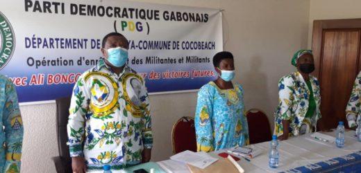 Covid-19 : Fidèle Angoue Mba sensibilise ses militants de Cocobeach !