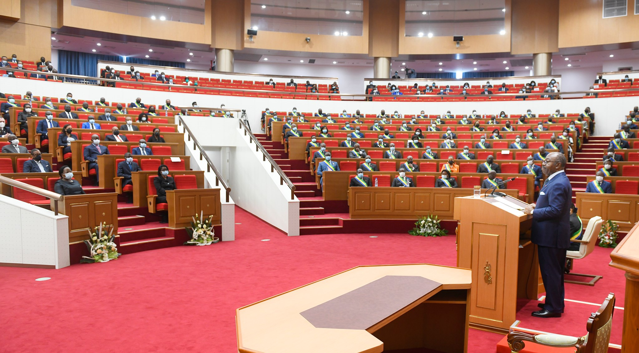 Gabon: retour en images sur l'allocution du Président de la République devant les deux chambres du Parlement