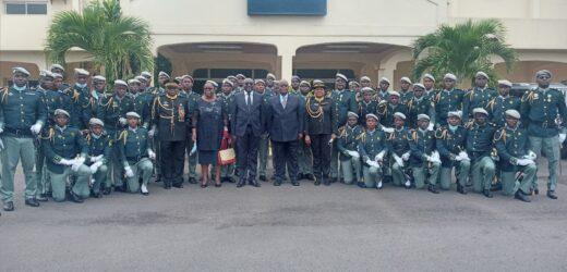 Fougamou/ Enfoma : Sortie de la 2ème promotion en présence du ministre de la défense nationale, Michael Moussa-Adamo et du ministre en charge des travaux publics, Léon Armel Bounda Balonzi !