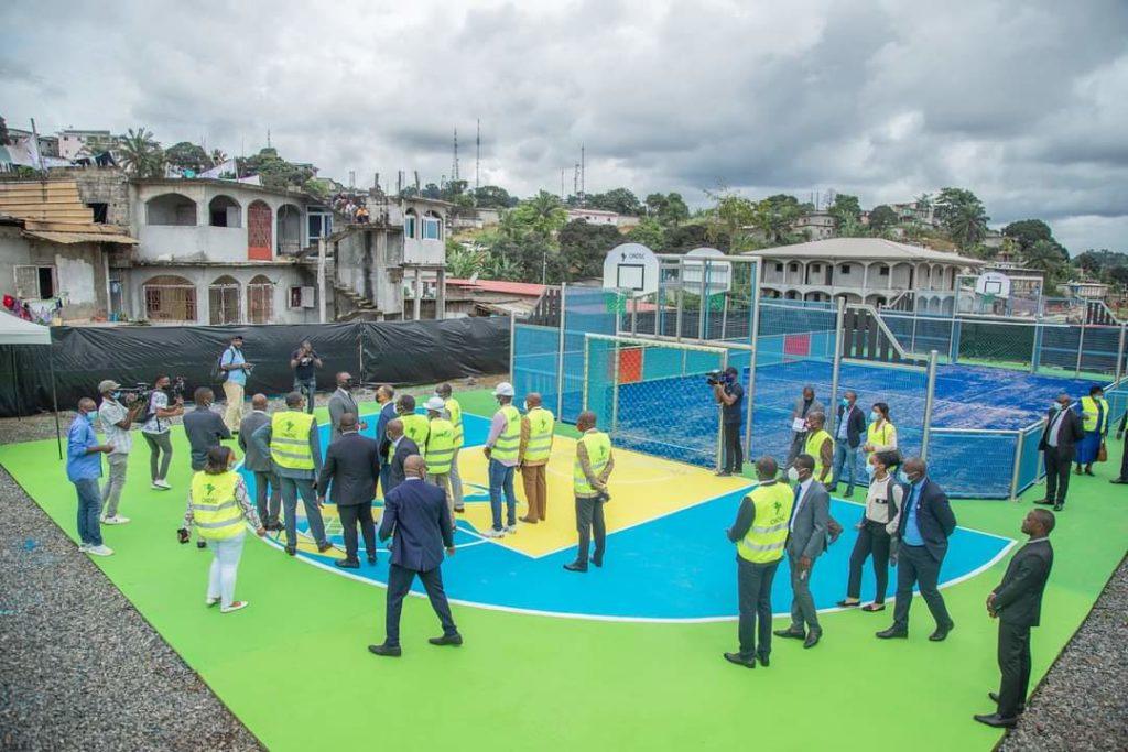 Libreville : le maire du 6e arrondissement réceptionne enfin les clés de la plate-forme de jeux du pk7